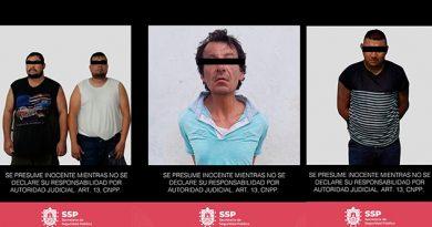 Aseguran arma de fuego, tractocamión y estupefacientes; 5 detenidos