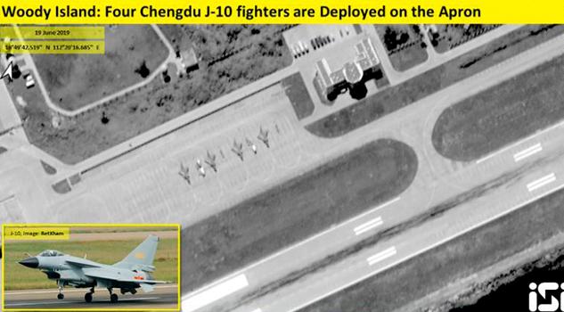 China desplegó aviones de combate a una isla disputada