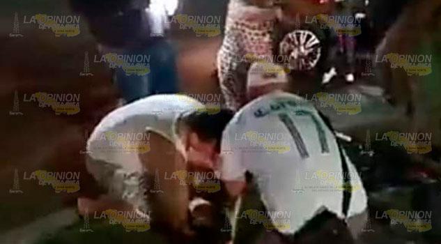 Ciclista herido en Huejutla, Hidalgo