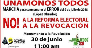 """Convocan a marcha contra AMLO para conmemorar un año del """"error electoral"""""""