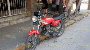 Derriban a motociclista en la col. Manuel Ávila Camacho de Poza Rica