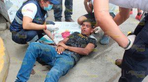 Joven se abrió la cabeza en la colonia Arroyo del Maíz de Poza Rica