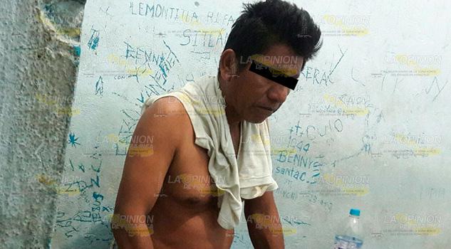 Mal padre golpeó a su hijo en Mesa de Limantitla; es detenido