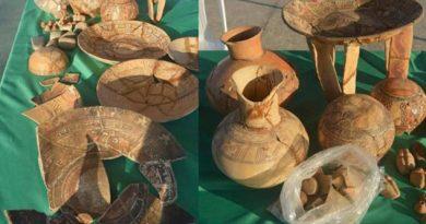 Piezas prehispanicas halladas en Villa Allende de origen mixteco