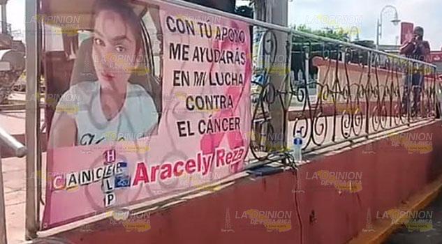 Recaudan apoyos para enferma de cáncer en Naranjos