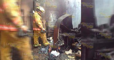 Se incendia una vivienda en Huejutla, Hidalgo