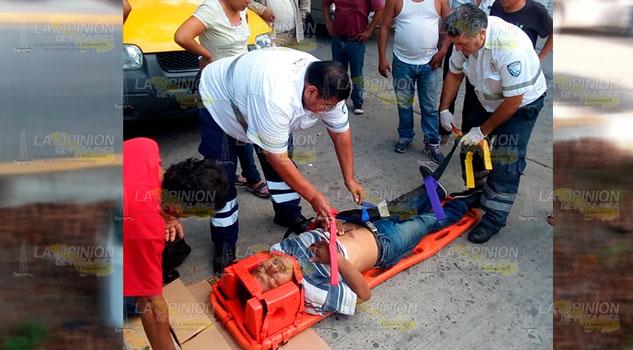 Soldador fue atropellado en el sector Coatzintla