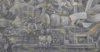 Teodoro Cano, los murales que heredó a Poza Rica