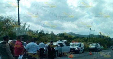 Aparatoso accidente frente al parque Takilshukut deja varios lesionados