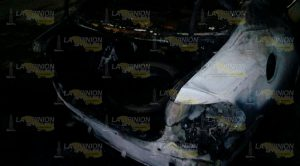 Arde un automóvil en Tuxpan