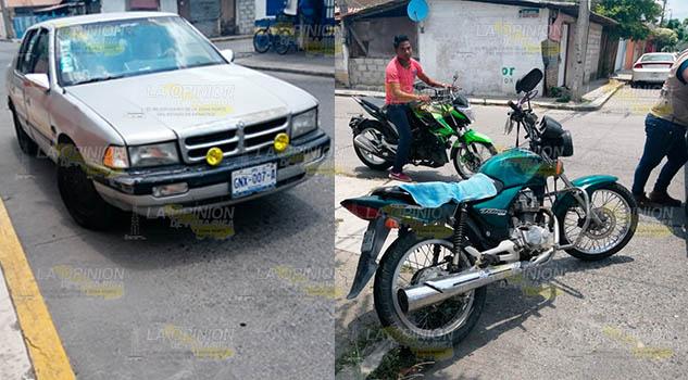 Derriban a motociclista en la colonia Manuel A. Camacho de Poza Rica
