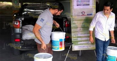 Envían 100 kilogramos de pilas a un centro de acopio en Xalapa