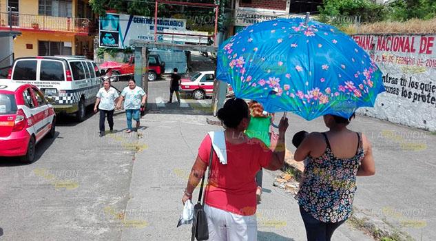 Golpea el calor; deshidratación y males diarreicos al alza en Tuxpan