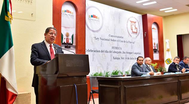 """Inaugura diputado Pozos, conversatorio """"Ley Nacional sobre el uso de la Fuerza"""""""