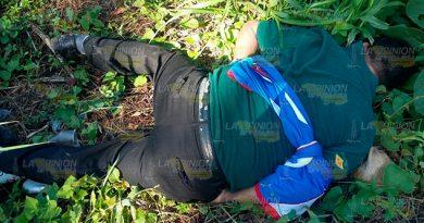 Le pegaron un tiro de gracia en camino vecinal de Tihuatlán