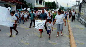 Marchan por la paz de Tancoco