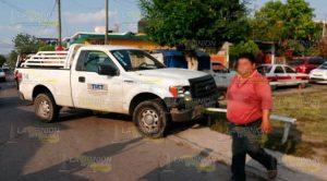 Menor herido en colisión en la colonia Manuel Ávila Camacho de Poza Rica