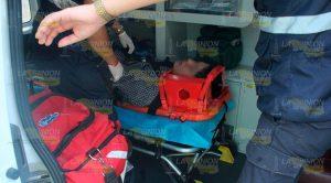 Mensajero herido; chocó contra taxi en la colonia Chapultepec de Poza Rica