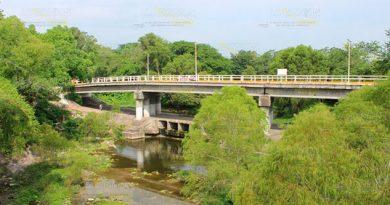 Por falta de lluvia se seca el río Tancochín