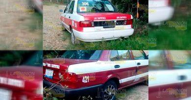 Reportan a taxistas por alterar el orden público en Tantoyuca