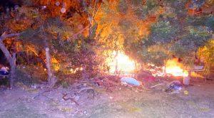 Se salva de morir quemado en Álamo