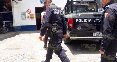 Transportista detenido por riña en cantina de Huejutla