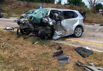 Tres muertos en choque sobre la autopista Tuxpan-Poza Rica