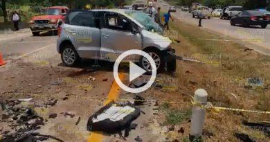 Tres muertos en accidente sobre la carretera Tuxpan - Poza Rica