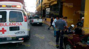 Casi matan a ciclista en céntrica avenida en Gutiérrez Zamora