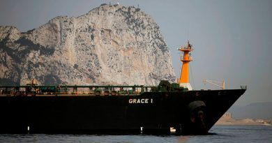 EUA reclama a Gibraltar que retenga el petrolero iraní apresado hace un mes