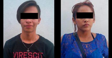 Pareja tras las rejas por alterar el orden público en Poza Rica