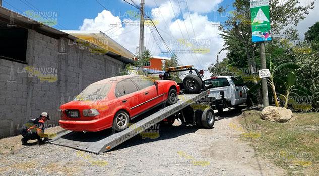 Policía Municipal de Tuxpan recupera automóvil robado