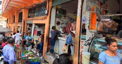 Sin agua en el mercado Hidalgo de Papantla