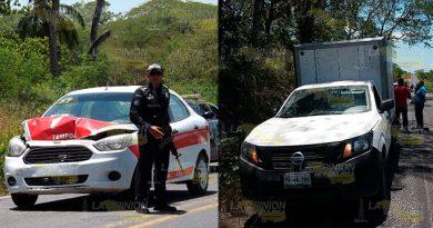 Taxi choca contra camioneta tras fallo en acelerador en la Alazán - Canoas