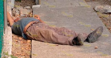 Vigilante muerto en plena calle de Poza Rica