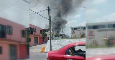 Vivienda consumida por el fuego en el municipio Citlaltepetl
