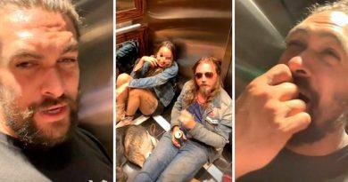 Jason Momoa se queda dos horas atrapado en un ascensor