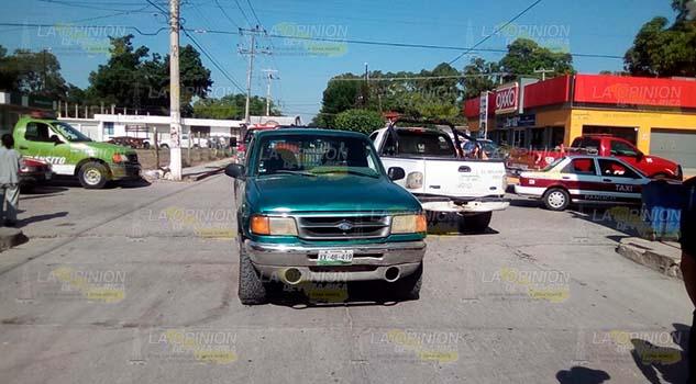 Anciano lesionado en choque en Pánuco
