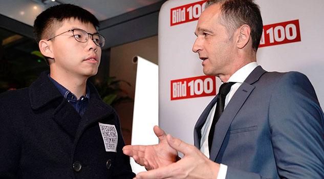 China protesta ante Berlín por encuentro entre ministro alemán y activista de Hong Kong