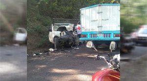 Fatal choque sobre la carretera Tuxpan - Tampico deja dos muertos