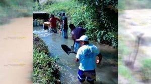 Realizan trabajos de mantenimiento en zonas de captación de agua en Tlapacoyan