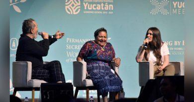 Rigoberta Menchú evita hablar de su apoyo al régimen de Nicaragua en la cumbre de premios Nobel
