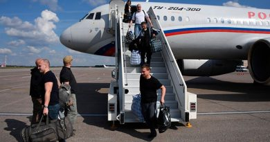 Rusia y Ucrania realizan con éxito el histórico intercambio de prisioneros