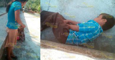 Abandonan a niños de la comunidad Las Mesas en Huejutla