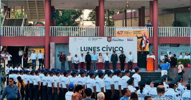 Conmemoran autoridades de Poza Rica vida y obra de Belisario Domínguez