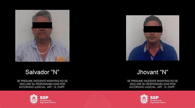 Dos detenidos en Martínez de la Torre y un rescatado en localidad de Papantla