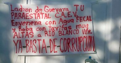Exigen reducción de tarifas del CAEV en Río Blanco