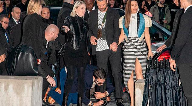 Justin Timberlake, víctima de un 'ataque' a su llegada a un desfile en París