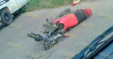 Motociclista de Xoxolpa pierde la vida en fuerte choque