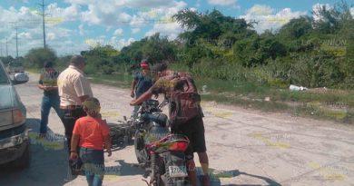 Por no respetar el alto se impacta contra otra motocicleta en Pánuco
